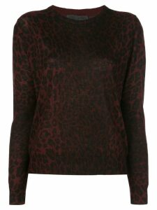 Nili Lotan relaxed-fit leopard jumper - Red