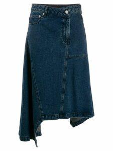 Juun.J asymmetric denim skirt - Blue