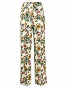 La Doublej Anna floral tailored trousers - NEUTRALS