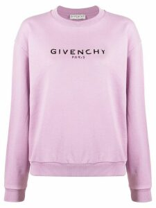 Givenchy vintage-effect logo sweatshirt - PURPLE
