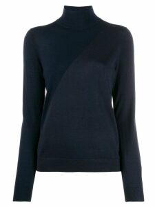 Pringle of Scotland colour block roll neck sweater - Blue