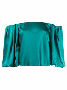Pinko off the shoulder puffed sleeve blouse - Green