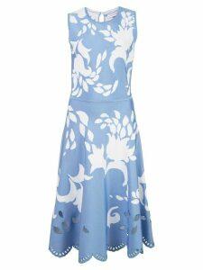 Carolina Herrera jacquard floral detail midi dress - Blue