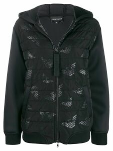 Ea7 Emporio Armani hooded padded jacket - Black