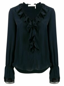 See by Chloé ruffled loose-fit blouse - Blue
