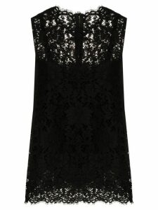 Dolce & Gabbana sleeveless lace top - Black
