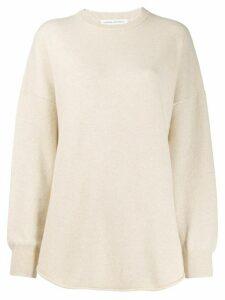 Extreme Cashmere round neck jumper - NEUTRALS