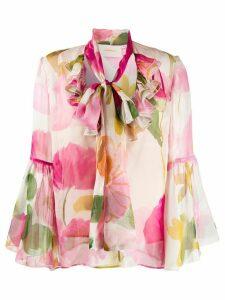 La Doublej Carmen silk shirt - PINK