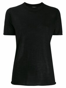 Joseph straight-fit crew-neck T-shirt - Black