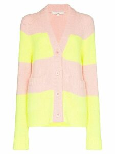 Tibi Cozette striped cardigan - PINK