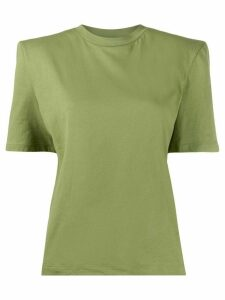 The Attico short sleeve structured shoulders T-shirt - Green