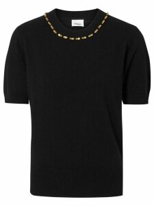 Burberry crystal embellished top - Black