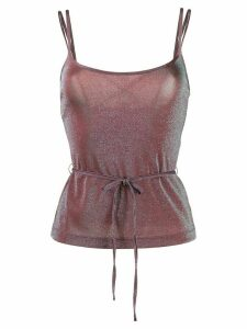 M Missoni metallic tie-waist top - Red