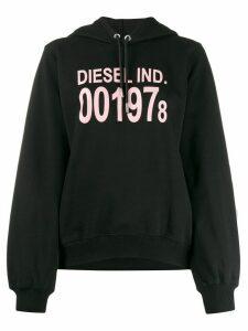 Diesel long sleeve logo hoodie - Black