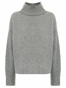 Maison Kitsuné roll-neck oversized sweater - Grey