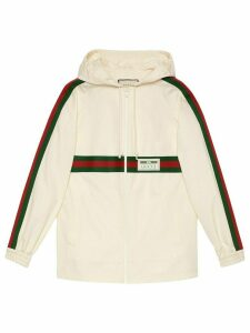 Gucci logo patch hoodie - White
