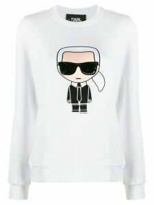 Karl Lagerfeld Karl motif long-sleeve top - White