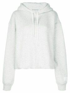T By Alexander Wang Dense Fleece Bubble hoodie - Grey