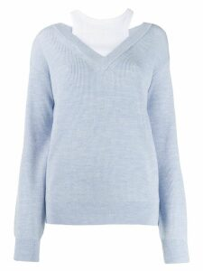 T By Alexander Wang layered sweater - Blue