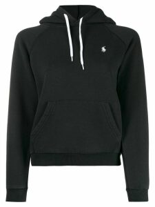 Polo Ralph Lauren embroidered logo relaxed-fit hoodie - Black