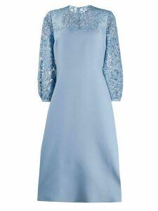 Valentino lace panel dress - Blue
