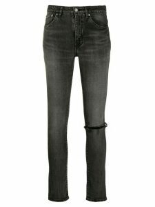 Saint Laurent ripped knee skinny jeans - Grey