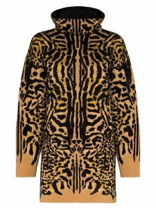 Givenchy turtleneck cheetah jacquard jumper - Brown