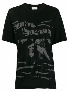 Saint Laurent graphic print crew neck T-shirt - Black