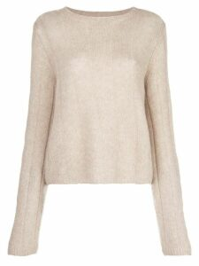 Khaite Nelley ribbed relaxed-fit jumper - NEUTRALS