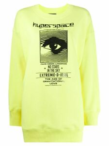 Diesel long sleeve logo sweater - Yellow