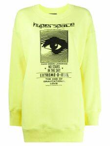 Diesel long sleeve logo sweater - Yellow