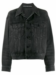 T By Alexander Wang denim boyfriend jacket - Grey
