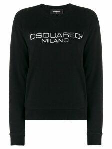Dsquared2 logo print sweatshirt - Black