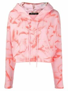Htc Los Angeles tie-dye cropped hoodie - Pink