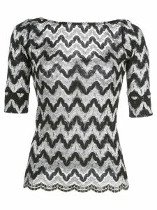 Rachel Comey zig-zag knitted top - Black