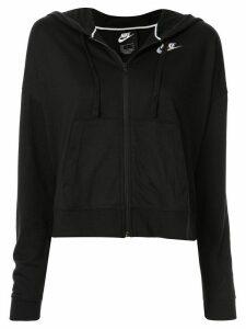 Nike zip-up logo hoodie - Black