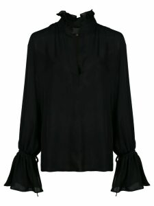 Nili Lotan Demi ruffled-neck blouse - Black