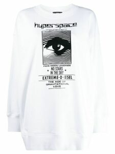 Diesel long sleeve printed sweater - White