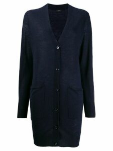 Joseph elongated cashmere cardigan - Blue