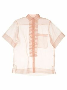Lee Mathews ruffle trim shirt - PINK