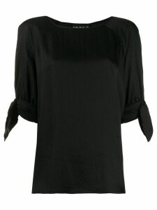 Boutique Moschino tie cuff blouse - Black