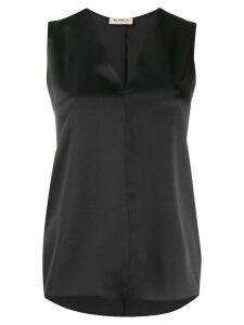 Blanca Vita sleeveless V-neck top - Black