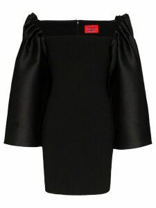 Solace London Linn oversized sleeve mini dress - Black