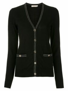 Tory Burch Color-Block Madeline Cardigan - Black