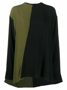 Marni two tone relaxed blouse - Green