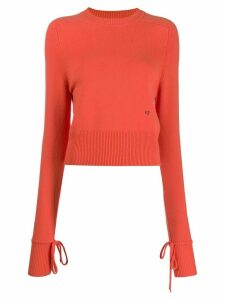 Victoria Beckham cropped crew-neck jumper - ORANGE