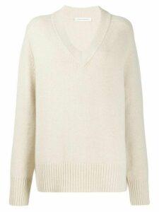 Extreme Cashmere V-neck jumper - NEUTRALS