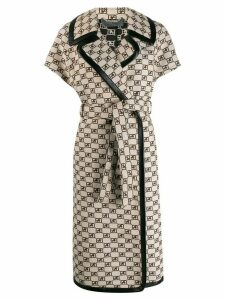 Alberta Ferretti belted short-sleeve coat - AVORIO