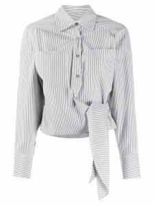 IRO tie-fastening striped shirt - Grey