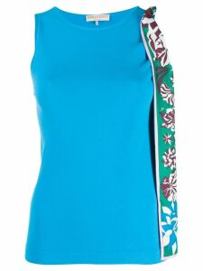 Emilio Pucci bow detail vest top - Blue